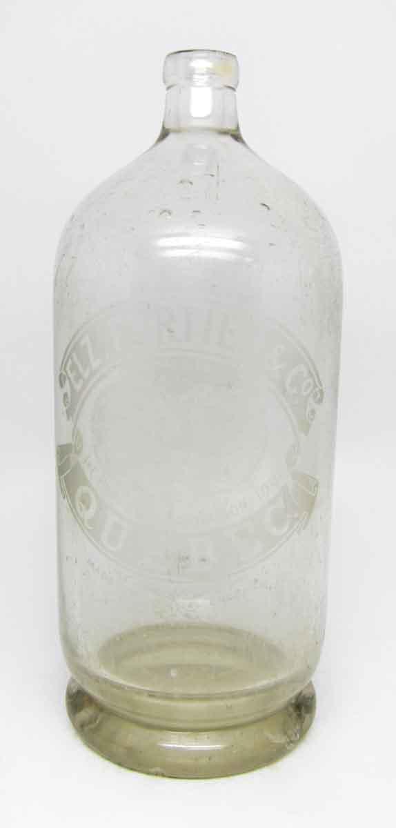 Elz. Fortie & Co. Quebec. Seltzer Bottle