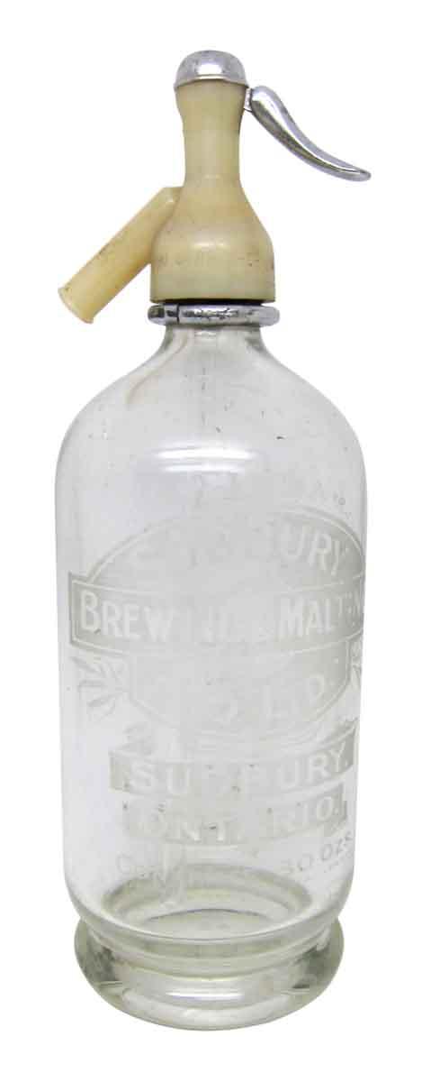 Glass Vintage Seltzer Bottle