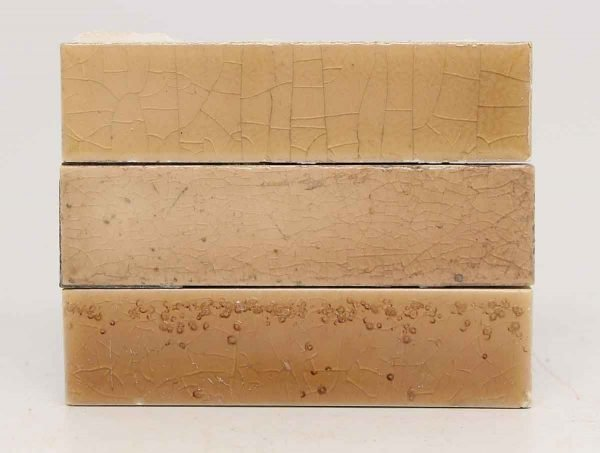 Long Crackled Beige Tile Trio