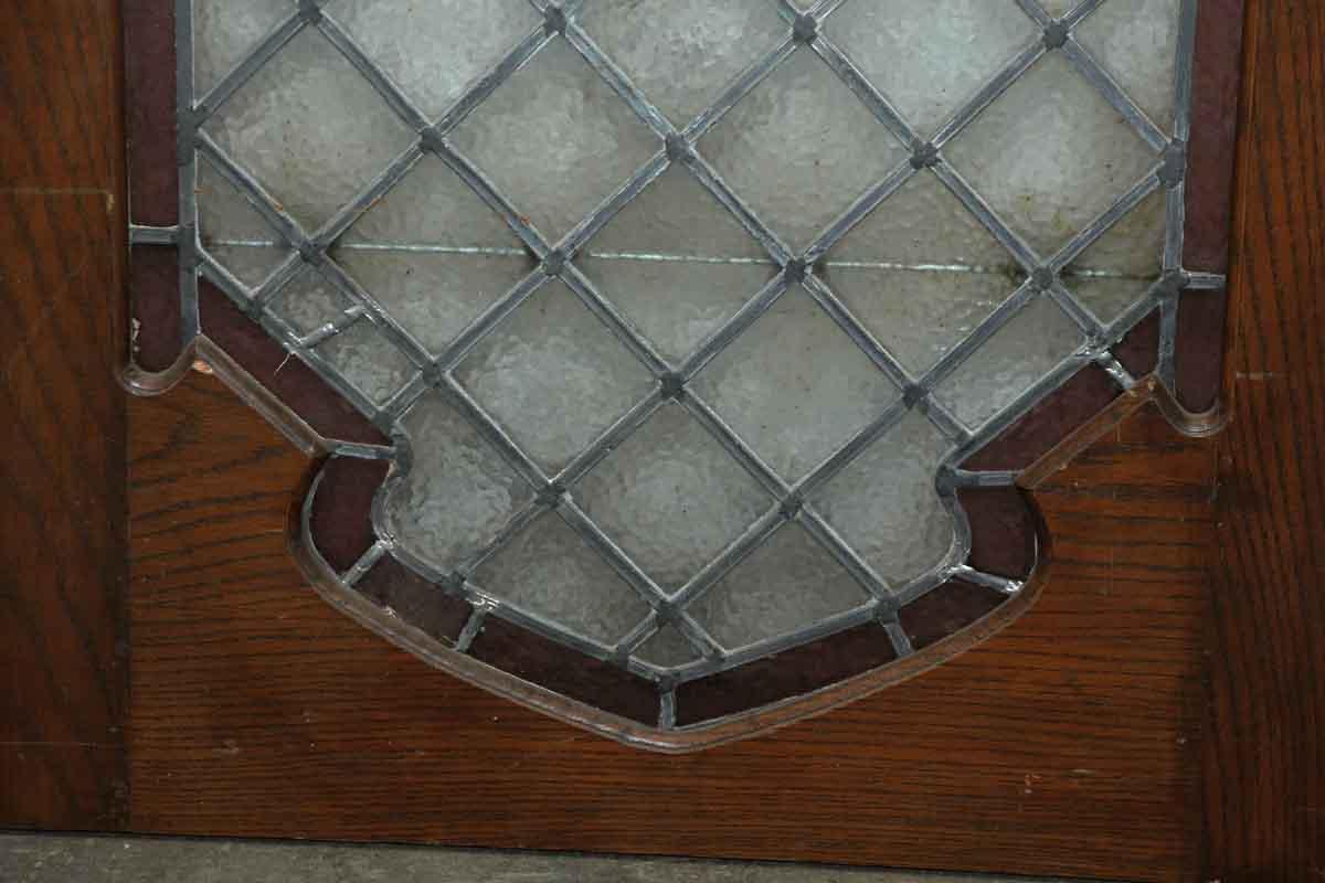 Single Wood Panel ~ Single wood lead glass door panel olde good things