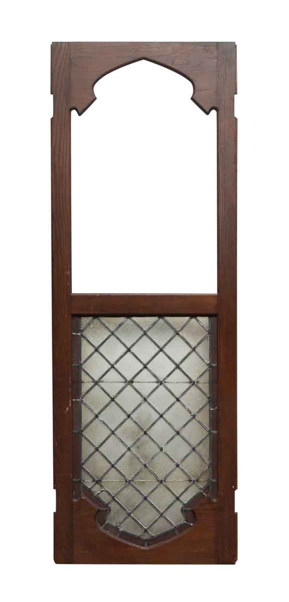 Single Wood & Lead Glass Door Panel