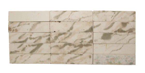 Set of 15 White Mixed Tiles