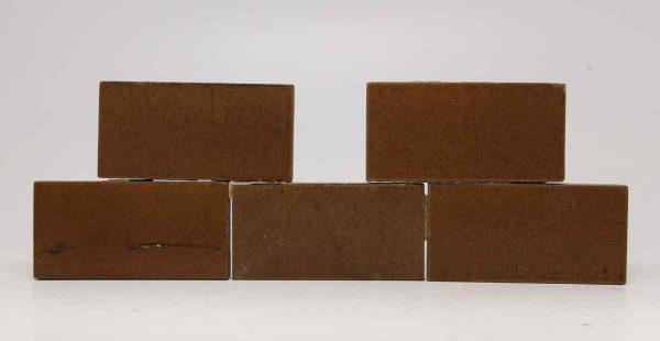 Set of Five Brown Rectangular Tiles