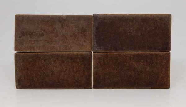 Set of Four Brown Rectangular Tiles