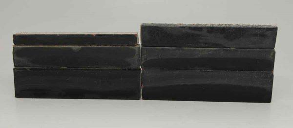 Set of Six Long Black Mixed Tiles