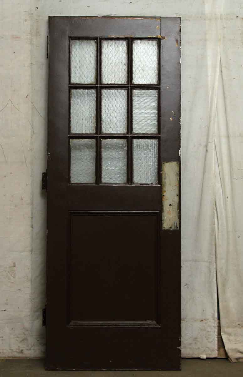 Wooden Doors With Chicken Wire Glass Panels Olde Good Things