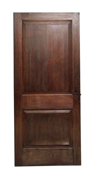Dark Wood Tone Double Panel Door