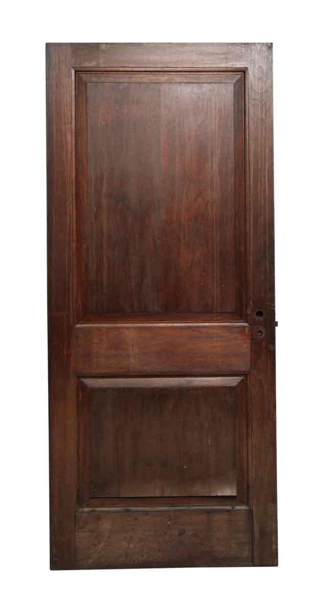 Dark wood tone double panel door olde good things for 12 panel door