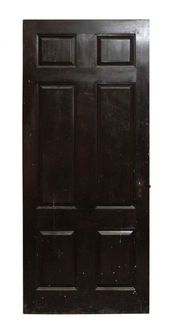 Dark Wood Tone Six Panel Door