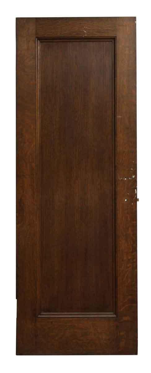 Single Panel Dark Wood Door