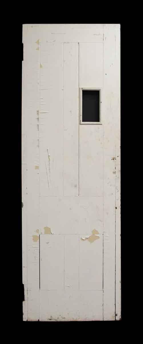 White Wood Door with Glass Peak Panel