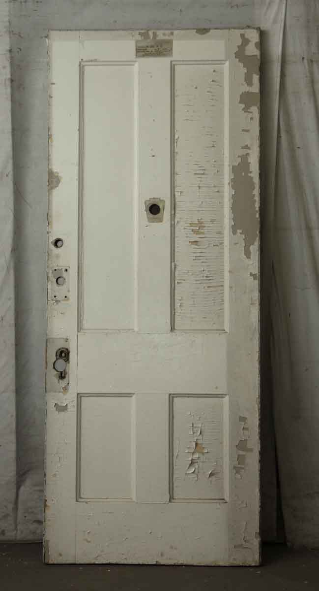 White Wooden Four Panel Door Olde Good Things
