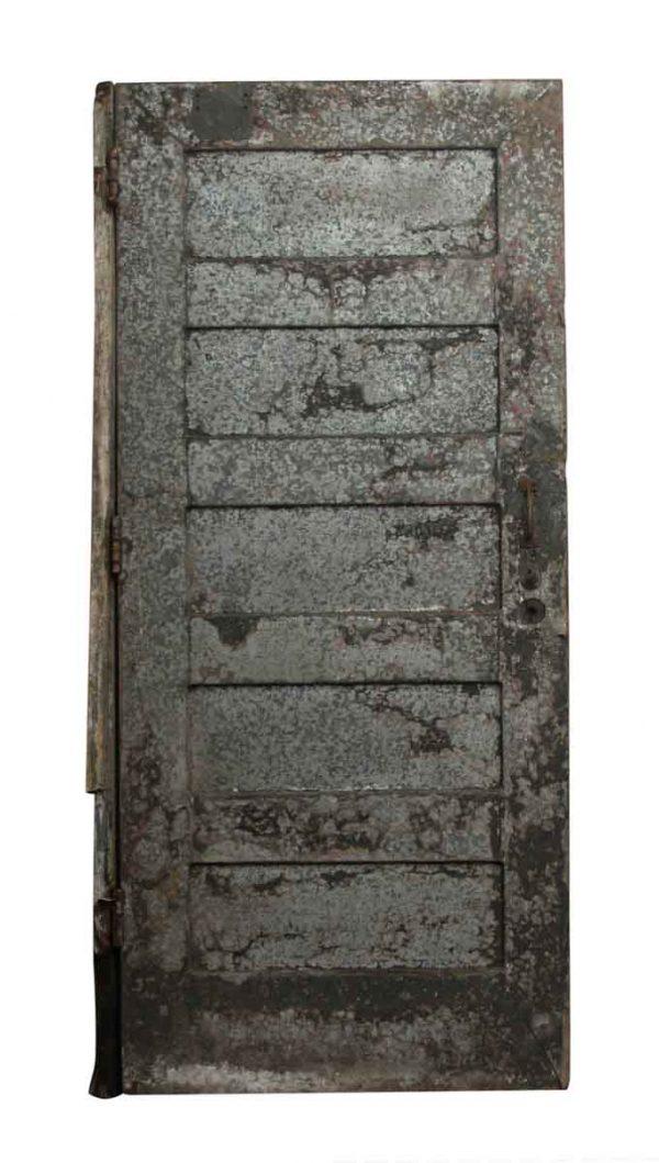 Steel Gray Storage Door