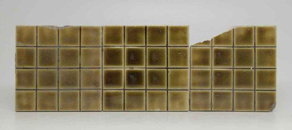Set of Three Dark Yellow Square Tiles