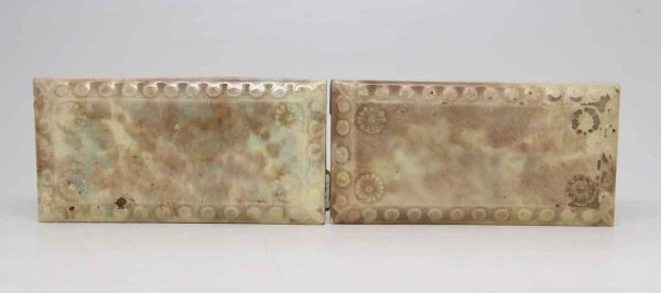 Pair of Floral Beveled Tiles
