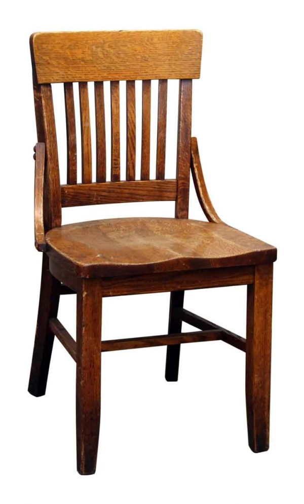 Single Oak Wood Bankers Chair