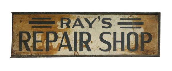 Old Ray's Repair Shop Sign