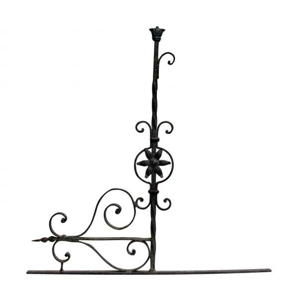 Decorative Iron Sign Holder
