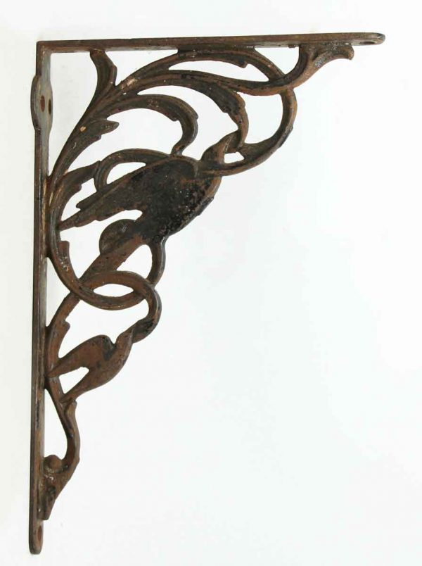 Pair of Iron Brackets with Bird Motif