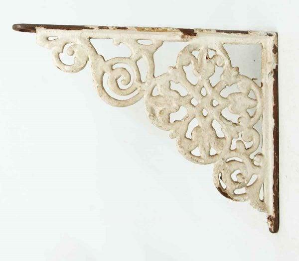 Painted White Iron Victorian Bracket