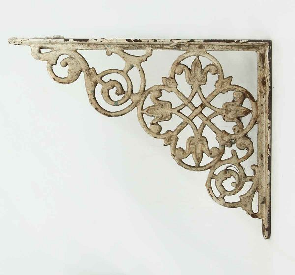 Pair of Painted White Iron Brackets