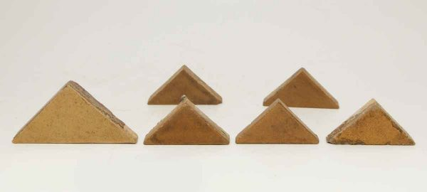 Set of Six Tan Matted Triangular Tiles