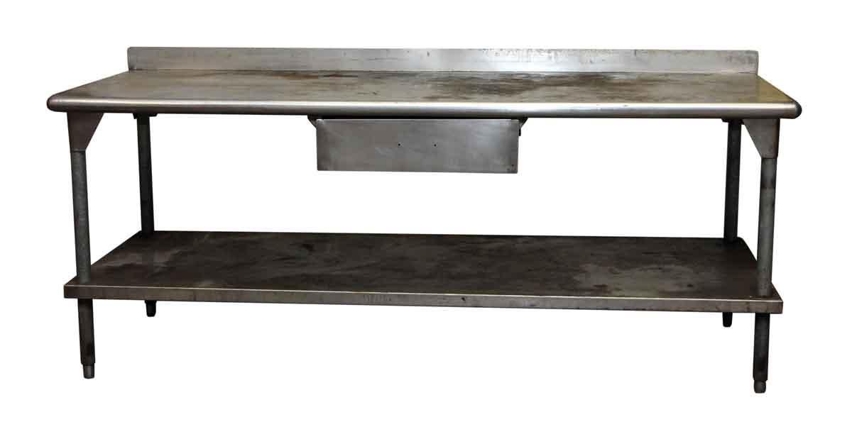 Industrial Metal Kitchen Prep Table   Olde Good Things