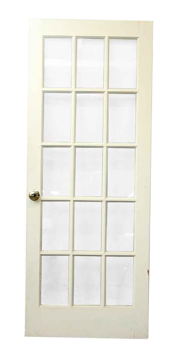 White Wood 15 Glass Panel Door Olde Good Things