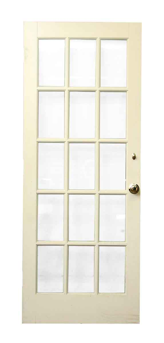 White Wood 15 Glass Panel Door Olde Good Things