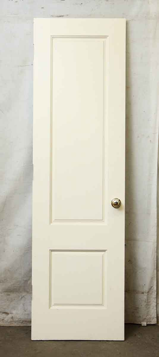 White Wood Door with Two Panels
