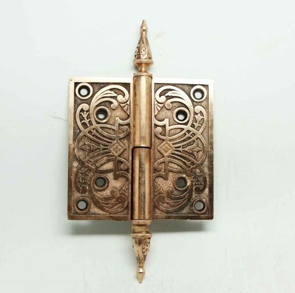 Brass or Bronze Ornate Steeple Tip Hinges