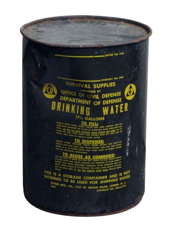 Metal Civil Defense Drinking Water Barrel