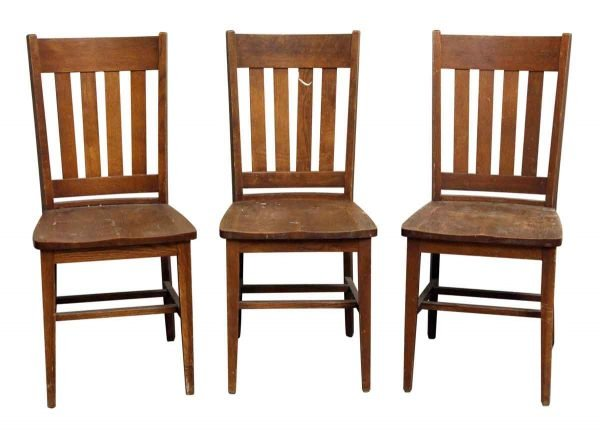 Set of Three Wood Chairs
