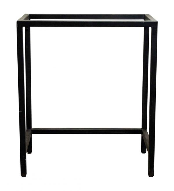 Tall Black Metal Table Base