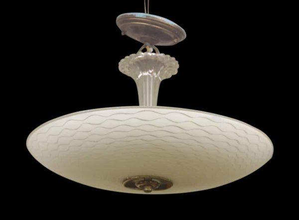1950s Kitchen Glass Dish Light