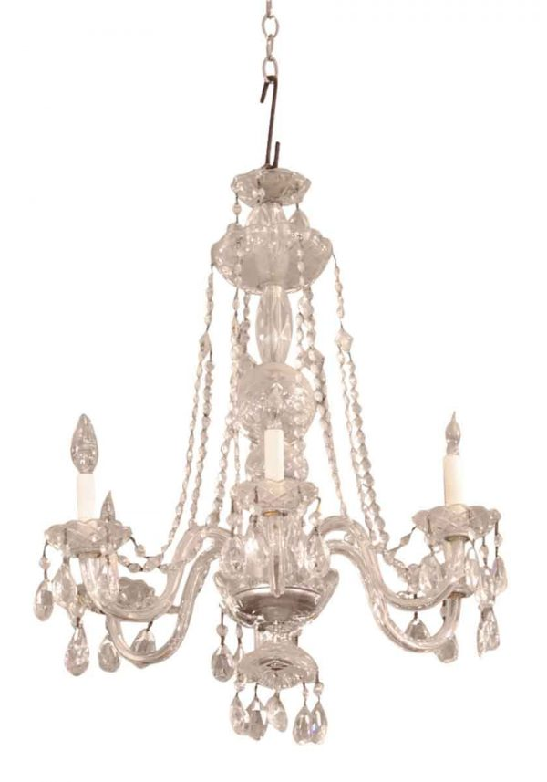 Olde Six Arm Crystal Chandelier