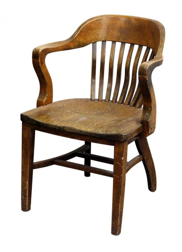 Single Antique Bankers Chair