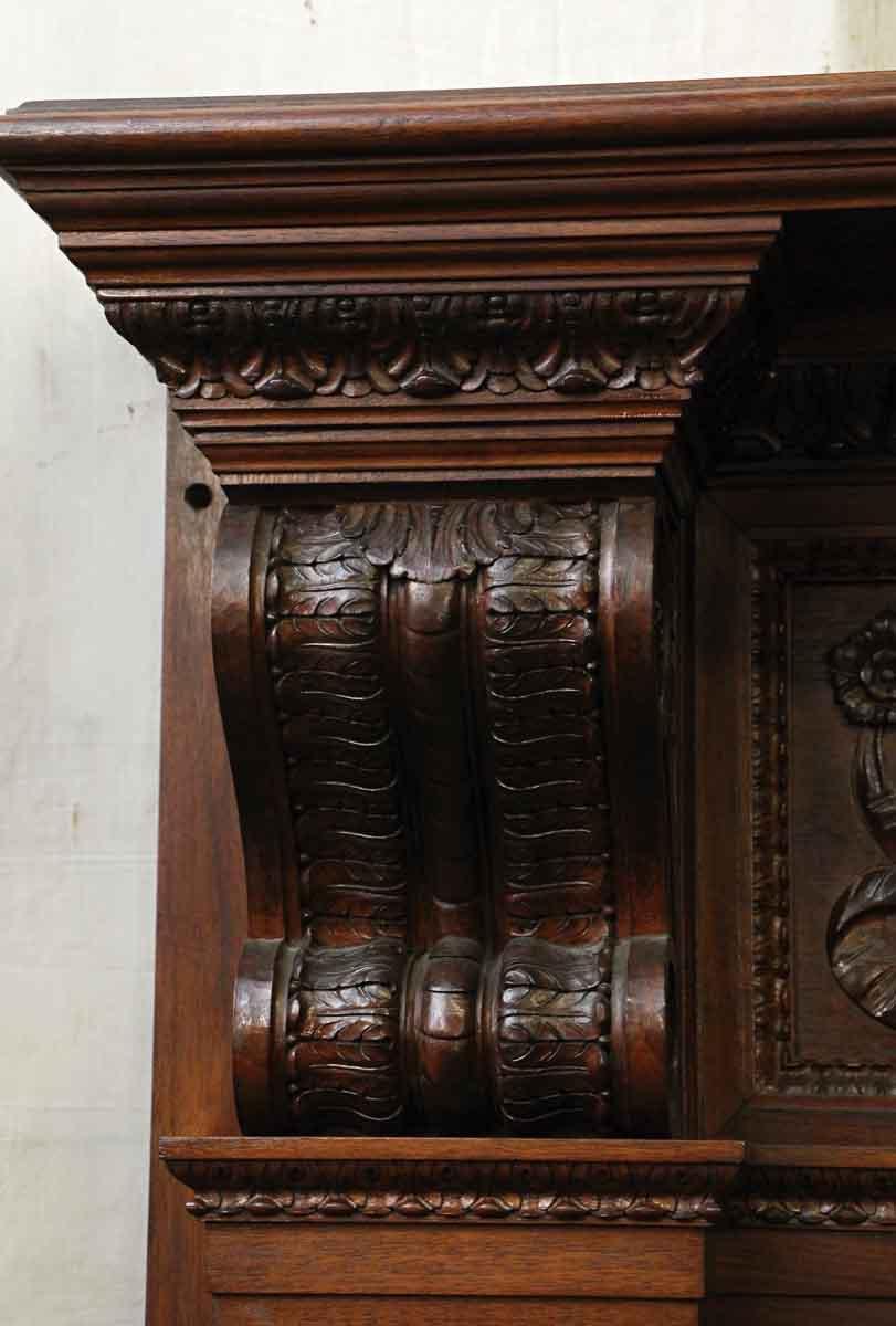 Heavily Carved Ornate Wood Mantel Olde Good Things