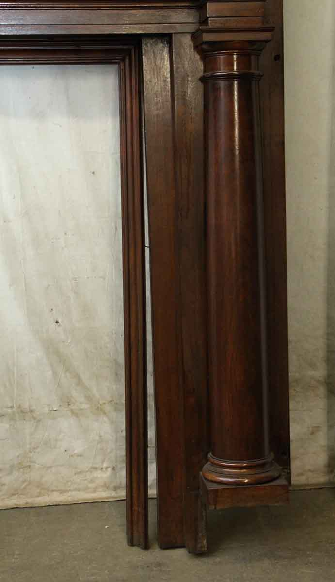 Dark Stained Federal Style Wood Mantel Olde Good Things