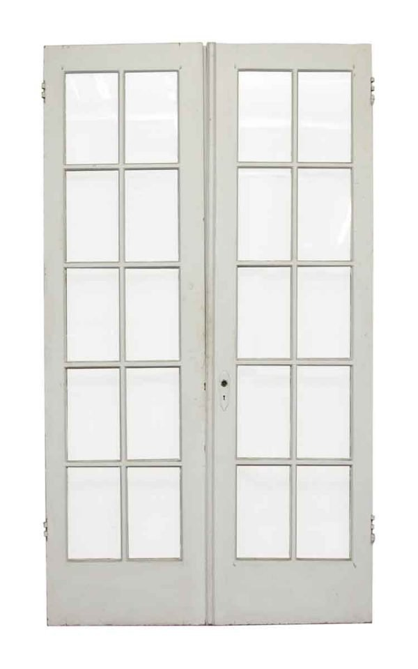 White French Wood Doors with 10 Lites