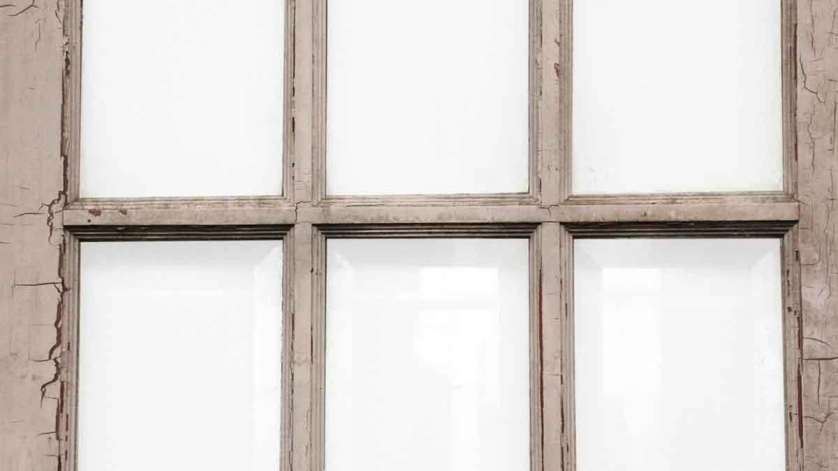 Beveled 15 glass panel wooden door olde good things for 15 panel glass french door