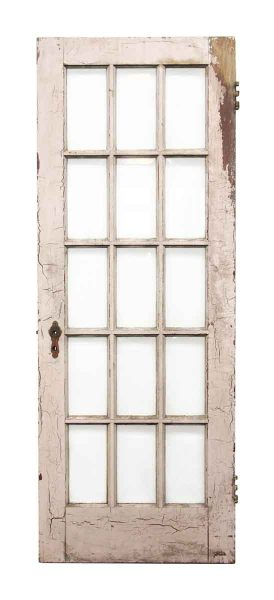 Beveled 15 Glass Panel Wooden Door