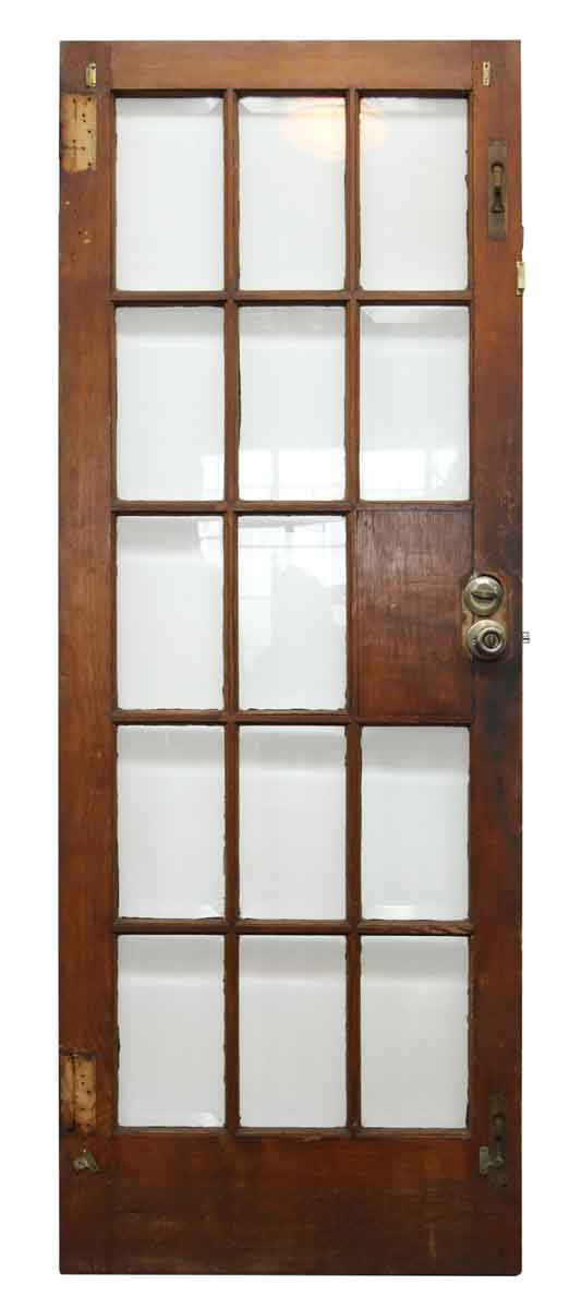 14 Beveled Glass Panel Door