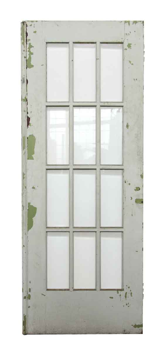 12 beveled glass panel white wooden door olde good things