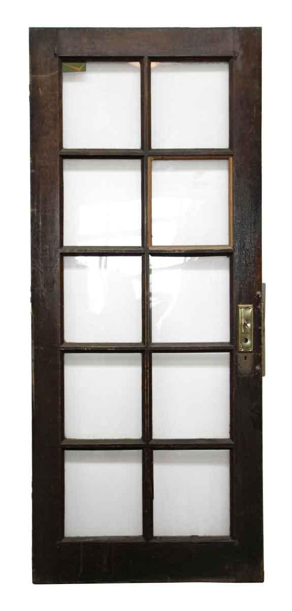 10 glass panel wooden door olde good things for 10 panel glass interior door