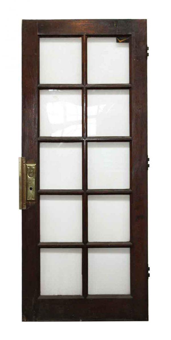 10 Glass Panel Wooden Door