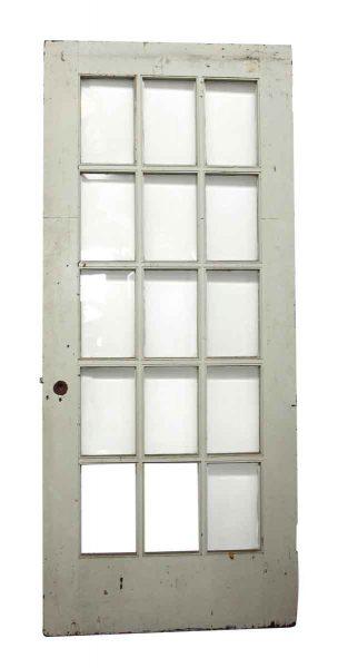 15 Beveled Glass Panel White Door