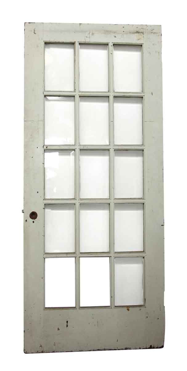 15 Beveled Glass Panel White Door Olde Good Things