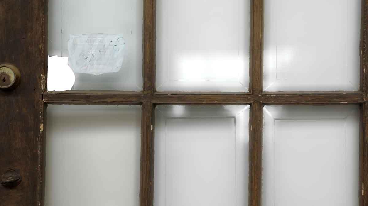 15 cut glass panel wood door olde good things for 15 panel glass french door