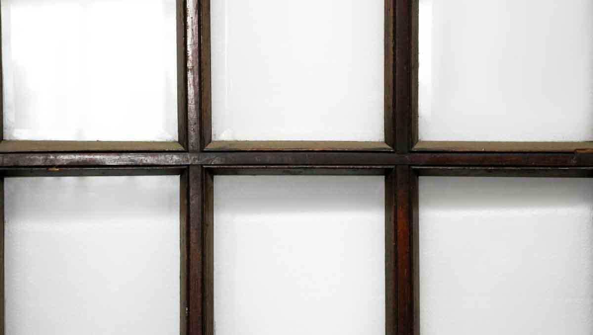 15 Beveled Glass Panel Dark Wood Door Olde Good Things